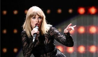 In this Feb. 4, 2017, file photo, Taylor Swift performs at DIRECTV NOW Super Saturday Night Concert in Houston, Texas. (Photo by John Salangsang/Invision/AP, File)