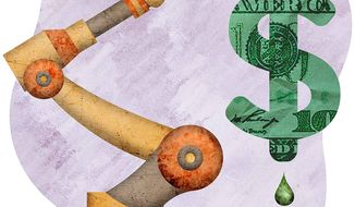 The Birth of a New Economic Recovery Illustration by Greg Groesch/The Washington Times