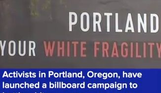 The PDX Billboard Project recently purchased space in Portland, Oregon, for 25 billboards focused on racial disparities in the city. (Image: ABC News screenshot)