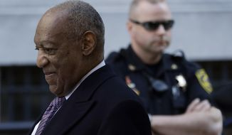 Bill Cosby departs after his sexual assault trial, Wednesday, April 18, 2018, at the Montgomery County Courthouse in Norristown. (AP Photo/Matt Slocum)