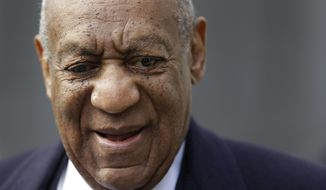 Bill Cosby arrives for his sexual assault trial, Wednesday, April 18, 2018, at the Montgomery County Courthouse in Norristown, Pa. (AP Photo/Matt Slocum)