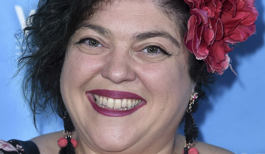 """Randa Jarrar attends the 2017 Vulture Festival Los Angeles """"Feminist AF"""" at the Hollywood Roosevelt Hotel on Saturday, Nov. 18, 2017, in Los Angeles. (Photo by Richard Shotwell/Invision/AP)"""