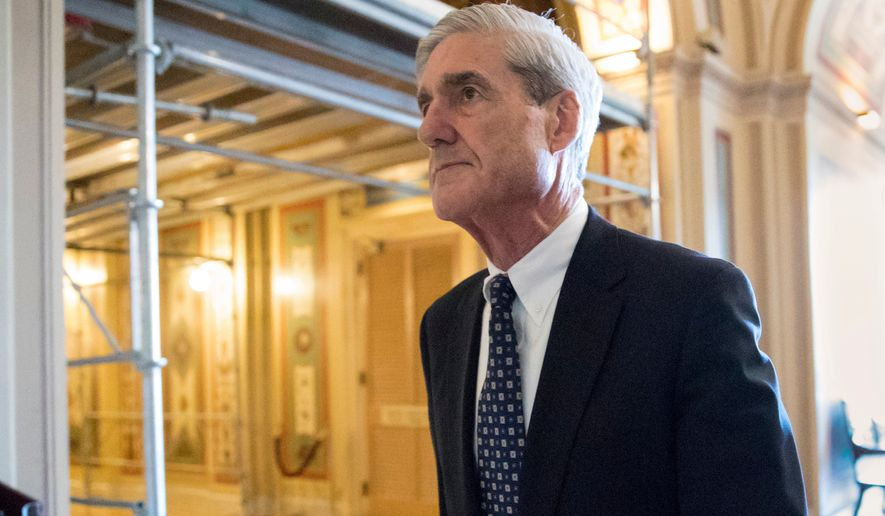 FILE - In this June 21, 2017, file photo, special counsel Robert Mueller departs after a meeting on Capitol Hill in Washington.  Mueller's team considers President Donald Trump a subject, not a criminal target, in the wide-ranging Russia investigation. The designation, first reported by The Washington Post and confirmed by The Associated Press, has raised questions about what legal threat Trump personally faces from the special counsel and whether it has any impact on his decision to sit for an interview with prosecutors.  (AP Photo/J. Scott Applewhite, File)