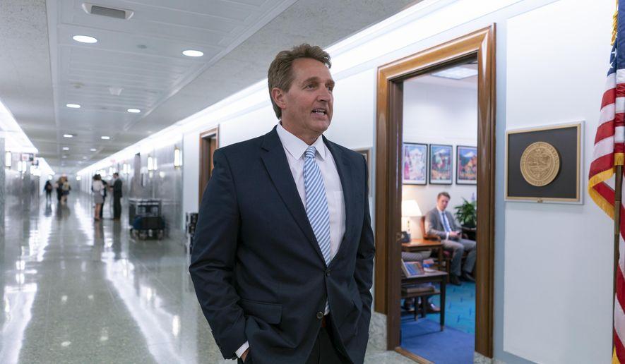 Sen. Jeff Flake warns of trade tensions causing political primitivism
