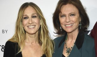 "Sarah Jessica Parker, left, and Jacqueline Bisset attend the screening for ""Blue Night"" during the 2018 Tribeca Film Festival at the SVA Theatre on Thursday, April 19, 2018, in New York. (Photo by Evan Agostini/Invision/AP)"
