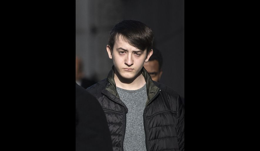 "This Jan. 19, 2018, file photo shows hacker Kane Gamble in London. A British teenager has been jailed for two years for compromising the email and phone accounts of senior U.S. government officials in what a judge called acts of ""cyber-terrorism."" Prosecutors on Friday, April 20 said that in 2015-16, Kane Gamble, now 18, conned call centers into revealing information that got him into the accounts of then-FBI director Mark Giuliano, then-Secretary of Homeland Security Jeh Johnson and then-CIA chief John Brennan. (Victoria Jones/PA via AP)"