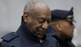 Bill Cosby departs after his sexual assault trial, Thursday, April 19, 2018, at the Montgomery County Courthouse in Norristown, Pa. (AP Photo/Matt Slocum)