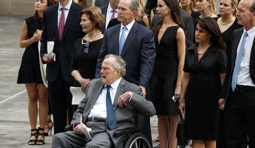 George H W Bush In Intensive Care After Barbara Bush S Death