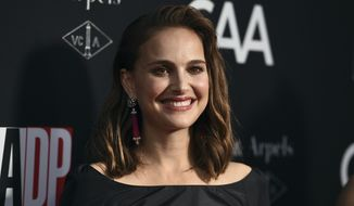 Natalie Portman arrives at the LA Dance Project Annual Gala and Unveiling of New Company Space on Saturday, Oct. 7, 2017 in Los Angeles. (Photo by Jordan Strauss/Invision/AP)