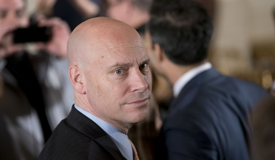 White House Director of Legislative Affairs Marc Short attends a ceremony in the East Room of the White House in Washington, Monday, March 12, 2018, where President Donald Trump honored the World Series Champion Houston Astros for their 2017 World Series victory. (AP Photo/Andrew Harnik) ** FILE **