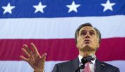 U. S. Senate candidate Mitt Romney delivers his speech to the delegates at the Utah Republican Nominating Convention Saturday, April 21, 2018, at the Maverik Center in West Valley City, Utah. (Leah Hogsten/The Salt Lake Tribune via AP)