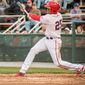 In games through Saturday for the Hagerstown Suns, outfielder Juan Soto was batting .389 (21-for-54) with five doubles, three triples and five homers with 24 RBIs. He had an OPS of 1.378. (Photo courtesy of John Slick, Hagerstown Suns)