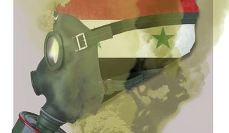 Illustration on the Syrian situation by Linas Garsys/The Washington Times