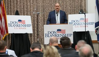 Former Massey CEO and West Virginia Republican Senate candidate Don Blankenship said during Monday's primary debate that the Upper Big Brranch mine explosion of 2012 was the result of federal regulators and voters will learn the truth. (Associated Press)