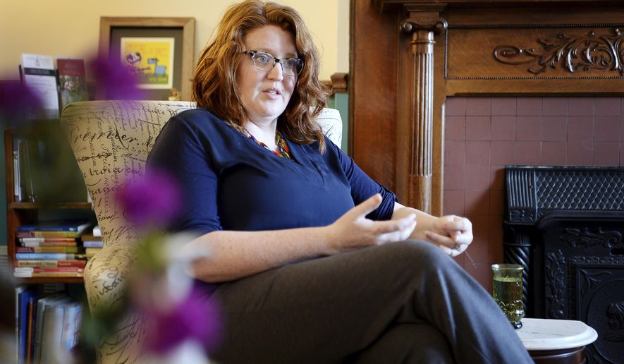 Tamara Hanna, LPC, discusses her role as facilitator for Asheville Buncombe Homicide Survivors support group's monthly meetings April 5, 2018.  Hanna, is an Asheville, N.C.,-based therapist who specializes in grief counseling. Contrary to the saying, time doesn't heal all wounds. (Angela Wilhelm /The Asheville Citizen-Times via AP)