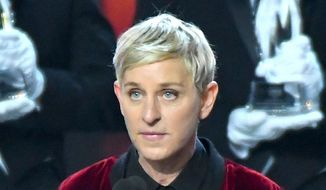 In this Jan. 18, 2017, photo, Ellen DeGeneres, winner of the awards for favorite animated movie voice, favorite daytime TV host, and favorite comedic collaboration, speaks at the People's Choice Awards in Los Angeles. (Photo by Vince Bucci/Invision/AP)