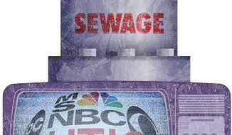 Liberal Media on Cable Television Illustration by Greg Groesch/The Washington Times