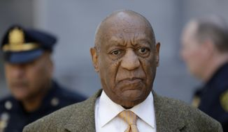 Bill Cosby departs after his sexual assault retrial, Monday, April 23, 2018, at the Montgomery County Courthouse in Norristown, Pa. (AP Photo/Matt Slocum)