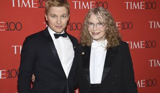 Ronan Farrow, left, and Mia Farrow attend the Time 100 Gala celebrating the 100 most influential people in the world at Frederick P. Rose Hall, Jazz at Lincoln Center on Tuesday, April 24, 2018, in New York. (Photo by Evan Agostini/Invision/AP)