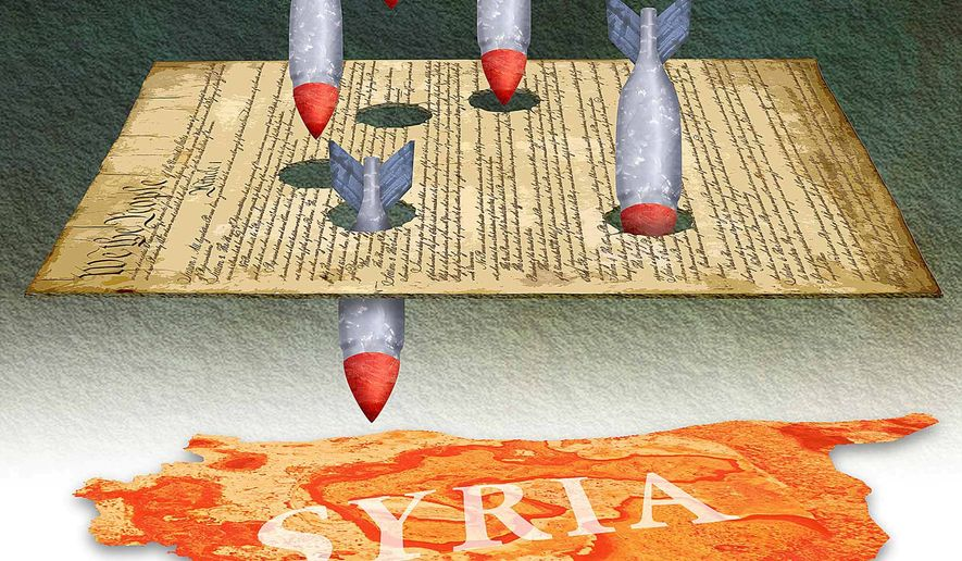 Bombing of Syria Illustration by Greg Groesch/The Washington Times