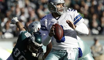 Tony Romo QB Dallas Cowboys. Romo played college football for Eastern Illinois University, where he won the Walter Payton Award in 2002, and led the Panthers to an Ohio Valley Conference championship in 2001. He signed as an undrafted free agent with the Cowboys in 2003. Serving as the team's primary starter from 2006 to 2015, he guided the Cowboys to four postseason appearances and was named to the Pro Bowl four times. Romo holds several Cowboys team records, including passing touchdowns, passing yards, most games with at least 300 passing yards, and games with three or more touchdown passes. He also held a higher passer rating in the fourth quarter than any other NFL quarterback from 2006 to 2013. (AP Photo/Michael Perez)