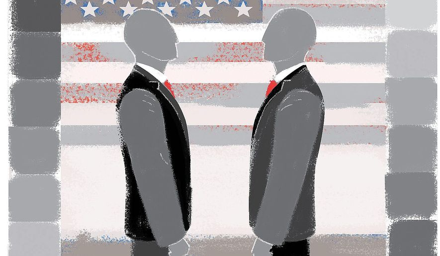 Illustration on relations with Russia by Linas Garsys/The Washington Times