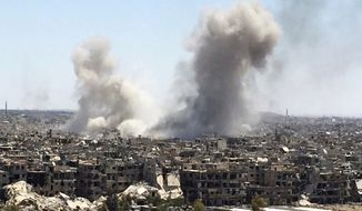 The Syrian army and its allies — Russians and Shiites from Lebanon, Iraq and Iran — have used siege and bombardment tactics to drive rebel groups into submission. (Associated Press/File)