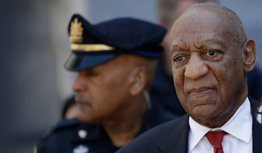 Bill Cosby departs after his sexual assault trial, Thursday, April 26, 2018, at the Montgomery County Courthouse in Norristown, Pa. Cosby was convicted Thursday of drugging and molesting a woman in the first big celebrity trial of the #MeToo era.(AP Photo/Matt Slocum)