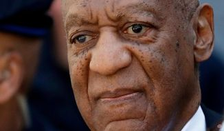 Actor and comedian Bill Cosby departs the courthouse after he was found guilty in his sexual assault retrial, Thursday, April, 26, 2018, at the Montgomery County Courthouse in Norristown, Pa. (AP Photo/Matt Slocum)