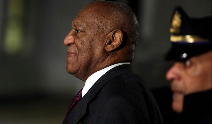 Bill Cosby departs after his sexual assault trial, Wednesday, April 25, 2018, at the Montgomery County Courthouse in Norristown, Pa. (AP Photo/Jacqueline Larma)