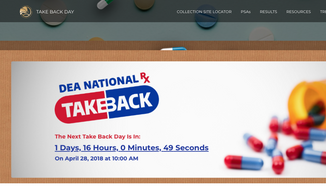 Screen capture from the DEA's official website for the National Prescription Drug Take Back Day, slated this year for Saturday, April 28. (takebackday.dea.gov)