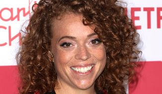 In this March 24, 2018, file photo, Michelle Wolf arrives at the 6th Annual Hilarity For Charity Los Angeles Variety Show at the Hollywood Palladium n Los Angeles. (Photo by Willy Sanjuan/Invision/AP, File)