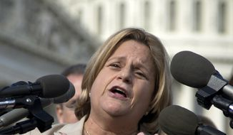 """I fled from a communist regime to come to this land of opportunity and freedom, where if you work hard and are a responsible member of society, you have the ability to get ahead,"" said Rep. Ileana Ros-Lehtinen, Florida Republican, the mother of a transgender man. ""That principle should apply to anyone, including transgender Americans. I urge the administration to guide its policies under the premise of freedom, opportunity and equality."" (Associated Press)"