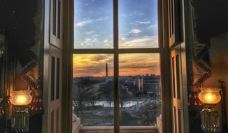 This Jan. 20, 2018, image provided by Sen. Angus King, I-Maine, shows a Washington D.C. during a government shutdown. King has never taken a photography class, but his eye for detail is winning Instagram followers and praise from professional photographers. (Angus King via AP)