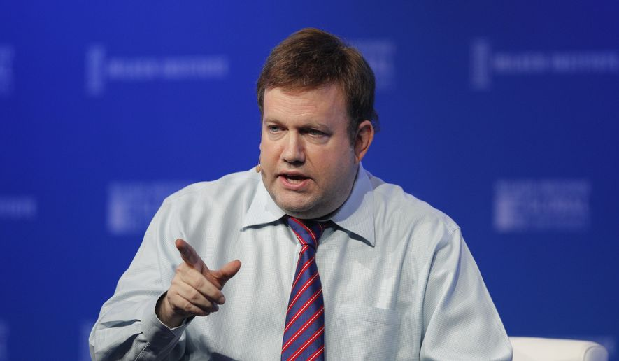 In this file photo, pollster Frank Luntz speaks at the Milken Institute Global Conference Monday, April 30, 2018, in Beverly Hills, Calif. (AP Photo/Jae C. Hong) ** FILE **