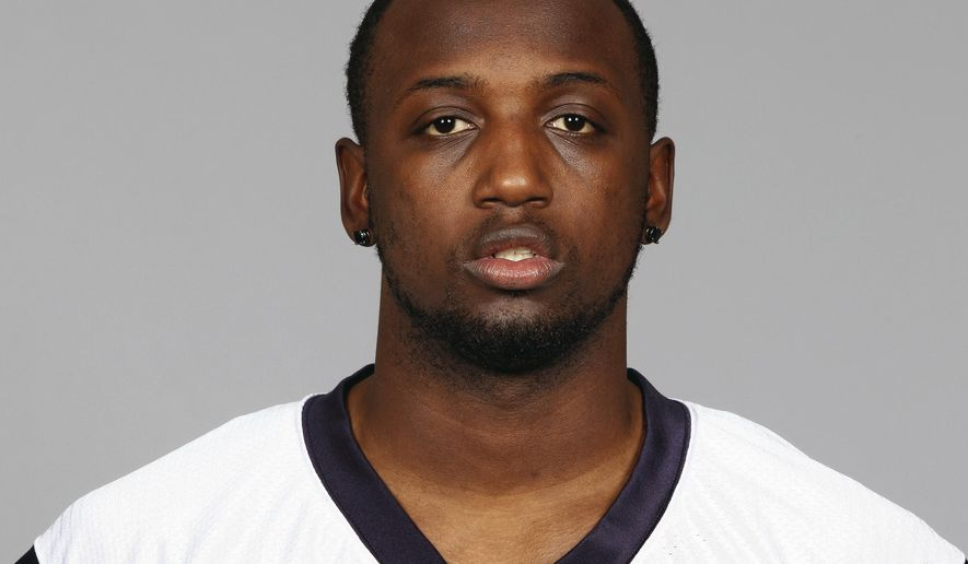 FILE - This is a 2012 file photo showing Desmond Marrow of the Houston Texans NFL football team.  Police and prosecutors in Georgia say they're reviewing the arrest of a former NFL player whose lawyers say officers used excessive force. Video circulated online last week of the Dec. 2 arrest of Desmond Marrow in a shopping center parking lot in McDonough, just south of Atlanta. Henry County police said Friday, April 27, 2018, that an officer is on administrative duty pending the outcome of an internal investigation.(AP Photo/File)