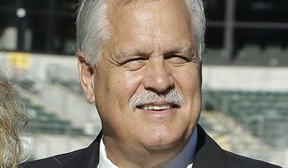 FILE - This ia an Aug. 14, 2015, file photo showing former NFL player Matt Millen before an NFL preseason football game between the Raiders and the St. Louis Rams in Oakland, Calif. Millen says he is being treated for a rare disease that has robbed his heart of most of its normal function. The 60-year-old Millen told the Morning Call in Allentown, Pennsylvania that he has been diagnosed with amyloidosis, a life-threatening illness that may force Millen to seek a heart transplant. Millen has been receiving chemotherapy once a week to treat a condition that his left his heart functioning at just 30 percent. Millen played 12 seasons as a linebacker in the NFL for the Raiders, 49ers and Redskins _ and won four Super Bowl rings.(AP Photo/Ben Margot, File)