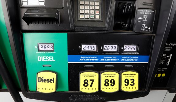 A number of factors are contributing to climbing prices at the pump. (Associated Press/File)