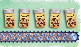 Amazon Enters the Pharmaceutical Market Illustration by Greg Groesch/The Washington Times