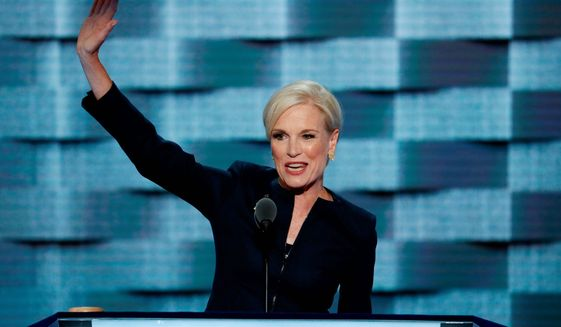 Planned Parenthood President Cecile Richards waves after speaking during the second day of the Democratic National Convention in Philadelphia. Richards steps down Tuesday, May 1, from the helm of Planned Parenthood, a position she has held for 12 years, and her parting message to fellow women is: Get involved, and don't wait.   (AP Photo/J. Scott Applewhite, File)