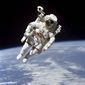 The newly formed National Space Council said it will address national space enterprise as well as civil space and commercial space. A 1984 NASA photo shows astronaut Bruce McCandless II, participating in a spacewalk a few meters away from the space shuttle Challenger. (NASA image via AP) (Associated Press)