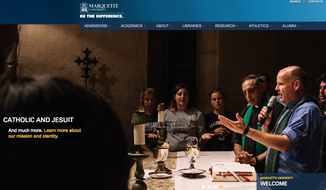 Screen capture from the official website for Marquette University, a Catholic and Jesuit institution in Wisconsin. (Marquette.edu)