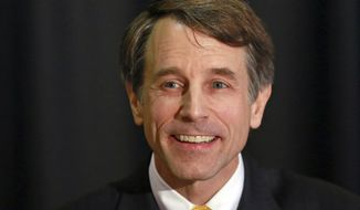 FILE - This March 21, 2018 file photo shows California Insurance Commissioner Dave Jones, a Democratic candidate for Attorney General, at a candidate forum, in Sacramento, Calif. Jones, a Democrat, is one of three candidates challenging incumbent Democratic Attorney General Xavier Becerra in the June primary. (AP Photo/Rich Pedroncelli, File)