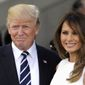 More Americans say they approve of President Trump and first lady Melania Trump. Mr. Trump's rating is 48 percent. Hers is 50 percent. (Associated Press)