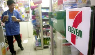 """More than 2,000 7-Eleven """"hot spots"""" including New York's Central Park and Venice Beach in Los Angeles will be working starting Monday. (AP Photo/Sakchai Lalit)"""