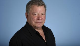"""FILE - In this May 22, 2017, file photo, William Shatner poses for a portrait in Los Angeles. The actor best known for his portrayal of Capt. James T. Kirk on the original """"Star Trek"""" television series is delivering the commencement address at the school in East Greenwich, R.I., on Sunday, May 6, 2018. (Photo by Jordan Strauss/Invision/AP, File)"""