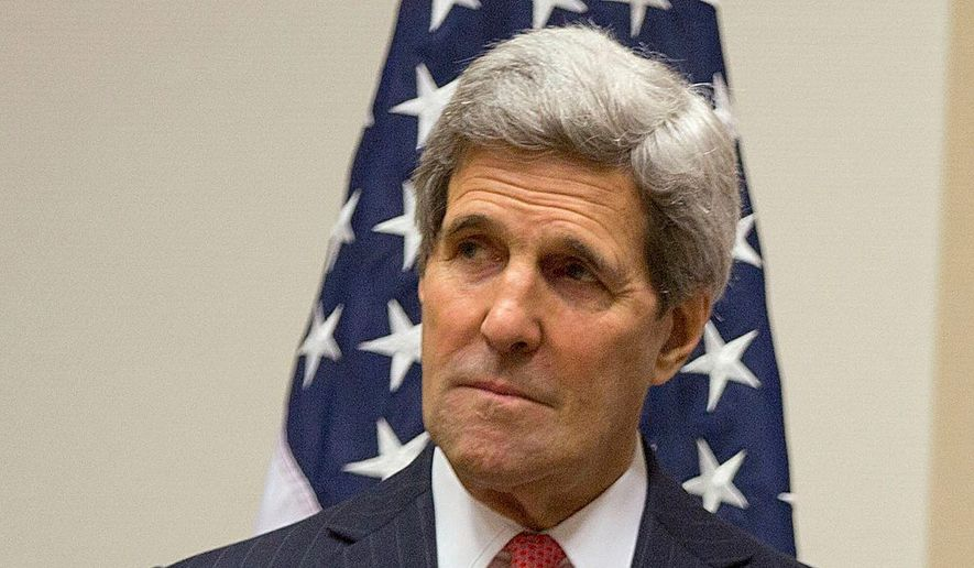 Former Secretary of State John Kerry. (Associated Press) ** FILE **
