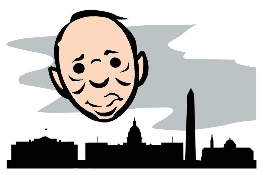 Illustration on Rod Rosenstein's current strange influence over Washington by Alexander Hunter/The Washington Times