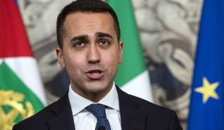 Luigi Di Maio, leader of Italy's 5-Star movement, is in talks with Matteo Salvini of the League to form a populist and anti-immigrant alliance. (Associated Press)