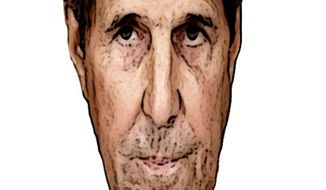 Illustration on John Kerry's renegade diplomatic efforts on behalf of the Iran nuclear deal by Alexander Hunter/The Washington Times